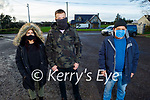 Sabrina Caffrey, Sean Cummins and Pat Joe Gilbert attending the Ballyduff/Lixnaw Wind awareness group meeting in Lixnaw on Sunday about the proposed wind farm in the Lixnaw Ballinagare Bog.
