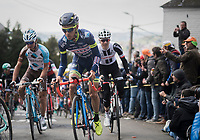 Guillaume Martin (FRA/Wanty-Groupe Gobert) up the infamous Mur de Huy<br /> <br /> 81st La Flèche Wallonne (1.UWT)<br /> One Day Race: Binche › Huy (200.5km)