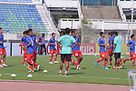 Pre-Match activities  the AFC CUP 2016 of the Group G Match Day 3 16 March 2016 Ayeyawady United (MYA) VS JSW Bengaluru FC (IND) at Youth Training Centre, Yangon  Photo by Power Sport Images