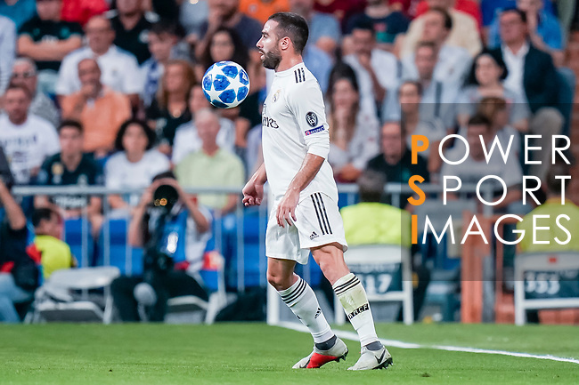 Daniel Carvajal Ramos of Real Madrid in action during the UEFA Champions League 2018-19 match between Real Madrid and Roma at Estadio Santiago Bernabeu on September 19 2018 in Madrid, Spain. Photo by Diego Souto / Power Sport Images