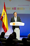 """Antonio Abril during the 6th edition of the collecting badges to the new ambassadors fees """"Marca España"""" in his 6th edition at BBVA City in Madrid, November 12, 2015.<br /> (ALTERPHOTOS/BorjaB.Hojas)"""