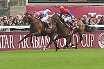 .Arc de Triomphe in Paris.   Workforce (GB) wins the race. Jockey Ryan. L. Moore Owner : K Abdullah. Trainer : M.R. STOUTE