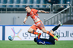 Jeju United Forward Marcelo Toscano (L) fights for the ball with Gamba Osaka Defender Oh Jaesuk (R) during the AFC Champions League 2017 Group H match Between Jeju United FC (KOR) vs Gamba Osaka (JPN) at the Jeju World Cup Stadium on 09 May 2017 in Jeju, South Korea. Photo by Marcio Rodrigo Machado / Power Sport Images