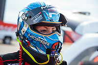 Sep 6, 2020; Clermont, Indiana, United States; NHRA top fuel driver Leah Pruett during the US Nationals at Lucas Oil Raceway. Mandatory Credit: Mark J. Rebilas-USA TODAY Sports