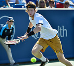 August  15, 2019:  Andrey Rublev (RUS) defeated Roger Federer (SUI) 6-3, 6-4, at the Western & Southern Open being played at Lindner Family Tennis Center in Mason, Ohio. ©Leslie Billman/Tennisclix/CSM