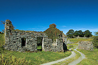 The remains of limestone workhouses at Salean on the island of Lismore, Argyll and Bute