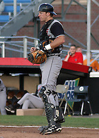 August 22, 2003:  Catcher Randy McGarvey of the Tri-City Valley Cats, Short Season Class-A affiliate of the Houston Astros, during a NY-Penn League game at Russell Diethrick Park in Jamestown, NY.  Photo by:  Mike Janes/Four Seam Images