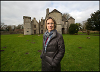 BNPS.co.uk (01202 558833)<br /> Pic: BNPS<br /> <br /> Katherine Thimbleby outside Elizabethan Wolfeton House.<br /> <br /> Countryside campaigners are today celebrating after defeating controversial plans to build a housing estate next to a historic manor that inspired Thomas Hardy.<br /> <br /> Developers had hoped to build 89 new homes in the vicinity of Wolfeton House, which is indelibly linked to Hardy's 1886 novel The Mayor of Casterbridge.<br /> <br /> But officials at Dorset Council have rejected their planning application, to the relief of objectors including Historic England and the Thomas Hardy Society, who argued Hardy's idyllic setting would be 'ruined' by the development.