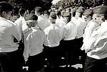 Young Cadets of the Minsk Military Academy Meeting during Independence Day of Belarus, Minsk, Belarus, July 2016.<br /> Jeunes cadets de l'académie militaire de Minsk se réunissant lors de la fête de l'indépendance, Minsk, Biélorussie, juillet 2016.