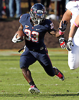Oct. 22, 2011 - Charlottesville, Virginia - USA; Virginia Cavaliers running back Perry Jones (33) runs the ball during an NCAA football game against the North Carolina State Wolfpack at the Scott Stadium. NC State defeated Virginia 28-14. (Credit Image: © Andrew Shurtleff
