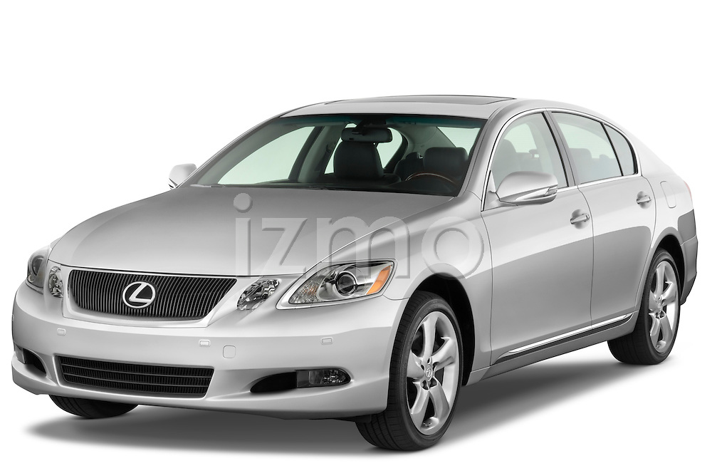 Front three quarter view of a 2008 Lexus GS 460.