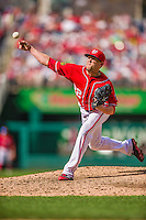 22 September 2013: Washington Nationals pitcher Drew Storen on the mound against the Miami Marlins at Nationals Park in Washington, DC. The Marlins defeated the Nationals 4-2 in the first game of their day/night double-header. Mandatory Credit: Ed Wolfstein Photo *** RAW (NEF) Image File Available ***