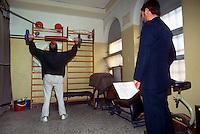 - sport activity inside the S.Vittore jail in Milan....- attività sportiva all'interno del carcere  S.Vittore a Milano