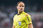 Referee Antonio Miguel Mateu Lahoz reacts during the La Liga 2017-18 match between Real Madrid and Real Betis at Estadio Santiago Bernabeu on 20 September 2017 in Madrid, Spain. Photo by Diego Gonzalez / Power Sport Images