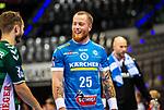Patrick Zieker (TVB Stuttgart #25) ; BGV Handball Cup 2020 Finaltag: TVB Stuttgart vs. FRISCH AUF Goeppingen am 13.09.2020 in Stuttgart (PORSCHE Arena), Baden-Wuerttemberg, Deutschland<br /> <br /> Foto © PIX-Sportfotos *** Foto ist honorarpflichtig! *** Auf Anfrage in hoeherer Qualitaet/Aufloesung. Belegexemplar erbeten. Veroeffentlichung ausschliesslich fuer journalistisch-publizistische Zwecke. For editorial use only.