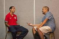 Kingston, Jamaica - Thursday, June 6, 2013: USMNT during media interviews before WC qualifying match against Jamaica.