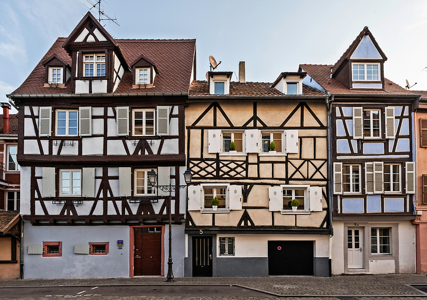 Half-timbered houses in Colmar