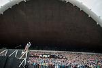 """Estland, Tallinn, Ausgewaehlte Choere bei den Proben fuer das 26. Saengerfest (Liederfest) mit dem Titel """"Touched by Time. The Time to Touch"""", Europa, 03.07.2014<br /> <br /> Engl.: Europe, the Baltic, Estonia, Tallinn, 26th Laulupidu - Song and Dance Celebration, song festival, traditional, culture, choirs, rehearsing, 03 July 2014<br /> <br />    Das estnische Liederfest findet derzeit alle fuenf Jahre in Tallinn statt. Das estnische Liederfest ist eine der groessten Veranstaltungen fuer Laienchoere weltweit. 2003 wurden die estnischen, lettischen und litauischen Lieder- und Tanzfeste von der UNESCO als Meisterwerke des muendlichen und immateriellen Erbes der Menschheit anerkannt und 2008 in die Repraesentative Liste des immateriellen Kulturerbes der Menschheit aufgenommen."""