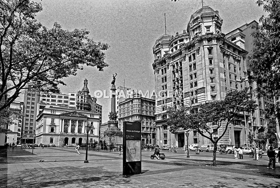 Pateo do Colégio, centro histórico de São Paulo. 1991. Foto de Juca Martins.