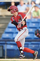 Altoona Curve shortstop Kevin Newman (2) at bat during a game against the Binghamton Rumble Ponies on May 17, 2017 at NYSEG Stadium in Binghamton, New York.  Altoona defeated Binghamton 8-6.  (Mike Janes/Four Seam Images)