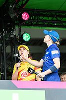 Natalie Sciver, Trent Rockets calls correctly at the toss with Heather Knight during London Spirit Women vs Trent Rockets Women, The Hundred Cricket at Lord's Cricket Ground on 29th July 2021