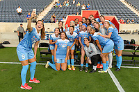 Chicago, IL - Saturday Sept. 24, 2016: Chicago Red Stars, Stephanie McCaffrey prior to a regular season National Women's Soccer League (NWSL) match between the Chicago Red Stars and the Washington Spirit at Toyota Park.