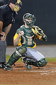 Siena Saints catcher Dave Hoffmann (25) during the season opening game against the Central Florida Knights at Jay Bergman Field on February 14, 2014 in Orlando, Florida.  UCF defeated Siena 8-1.  (Copyright Mike Janes Photography)