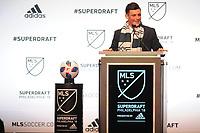 Philadelphia, PA - Thursday January 19, 2018: Lucas Stauffer during the 2018 MLS SuperDraft at the Pennsylvania Convention Center.