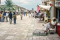 Abu Dhabi, UAE. Main Street of Suq. Photographed March 1972.