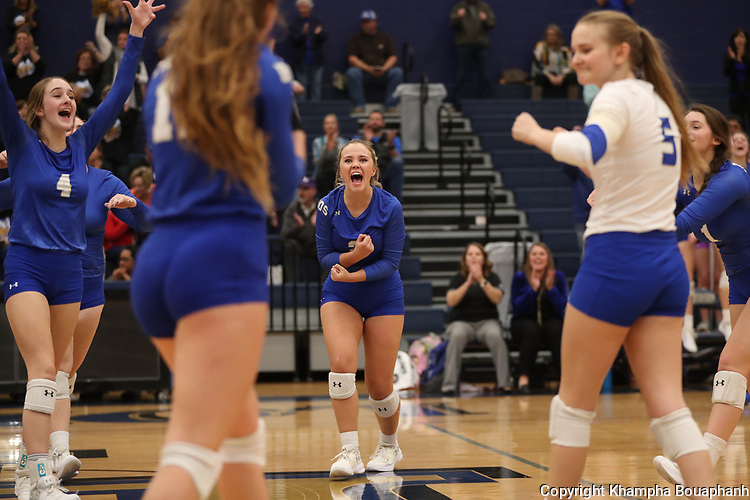 Boswell beats Sherman 3-2 in 5A bi-district playoff volleyball at Little Elm on Monday, October 30, 2017. (photo by Khampha Bouaphanh)