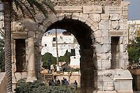 Tripoli, Libya - Marcus Aurelius Roman Arch, 163-64 A.D., Tripoli Medina (Old City).