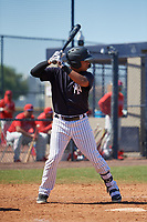 New York Yankees Everson Pereira (29) during a Minor League Spring Training game against the Philadelphia Phillies on March 23, 2019 at the New York Yankees Minor League Complex in Tampa, Florida.  (Mike Janes/Four Seam Images)