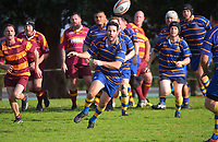 Action from the North Harbour presidents club rugby match between Takapuna Guerillas and Northcote Nobras at Onewa Domain in Northcote, New Zealand on Saturday, 19 June 2021. Photo: Dave Lintott / lintottphoto.co.nz