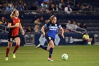 Kansas City, Kansas - Saturday April 16, 2016: FC Kansas City midfielder Heather O'Reilly (9) in action against Western New York Flash at Children's Mercy Park. Western New York won 1-0.
