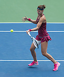 Lucie Safarova (CZE) defeats Venus Williams (USA) 6-7, 6-3, 6-4 at the Western & Southern Open in Mason, OH on August 12, 2014.