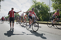 Tiesj Benoot (BEL/Lotto-Soudal) catching his musette<br /> <br /> Brussels Cycling Classic 2016