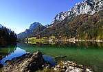 DEU, Deutschland, Bayern, Oberbayern, Berchtesgadener Land, Ramsau: Hintersee vor Reiter Alpe (Reiteralm) | DEU, Germany, Bavaria, Upper Bavaria, Berchtesgadener Land, Ramsau: Lake Hintersee and Reiter Alpe mountain
