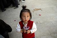 A young girl in Zijun village, home of the Samatao minority.