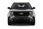 Car photography straight front view of a 2018 Ford Explorer Sport 5 Door SUV