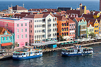 Willemstad, Curacao, Lesser Antilles.  Punda, Pedestrian Ferries, One Approching, One Preparing to Leave.