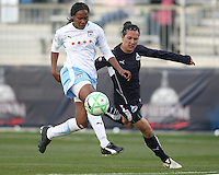 Lisa De Vanna (17) of the Washington Freedom loses the ball to Ifeoma Dieke (4) of the Chicago Red Stars during a WPS match at Maryland Soccerplex on April 11 2009, in Boyd's, Maryland.  The game ended in a 1-1 tie.