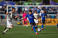 SAN JOSE, CA - AUGUST 8: Javier López  #9 during a game between Los Angeles FC and San Jose Earthquakes at PayPal Stadium on August 8, 2021 in San Jose, California.