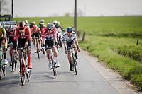 Mathieu Van Der Poel (NED/Correndon-Circus) & Matteo TRENTIN (ITA/Mitchelton-Scott) in the leading group<br /> <br /> 81st Gent-Wevelgem 'in Flanders Fields' 2019<br /> One day race (1.UWT) from Deinze to Wevelgem (BEL/251km)<br /> <br /> ©kramon