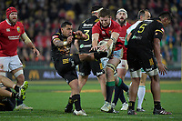 Hurricanes' Te Toiroa Tahuriorangi in action during the New Zealand Lions Series - Hurricanes v British and Irish Lions at Westpac Stadium, Wellington, New Zealand on Tuesday 27 June 2017.<br /> Photo by Masanori Udagawa<br /> www.photowellington.photoshelter.com.