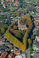 4415 / SIEK: EUROPA, DEUTSCHLAND, SCHLESWIG-HOLSTEIN, (EUROPE, GERMANY), 17.10.2005: Herbstliche Baeume um die Kirche in Siek