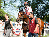 Cash For Clunkers, with Alan Garcia up, ran a huge race to be second in the Ogden Phipps.