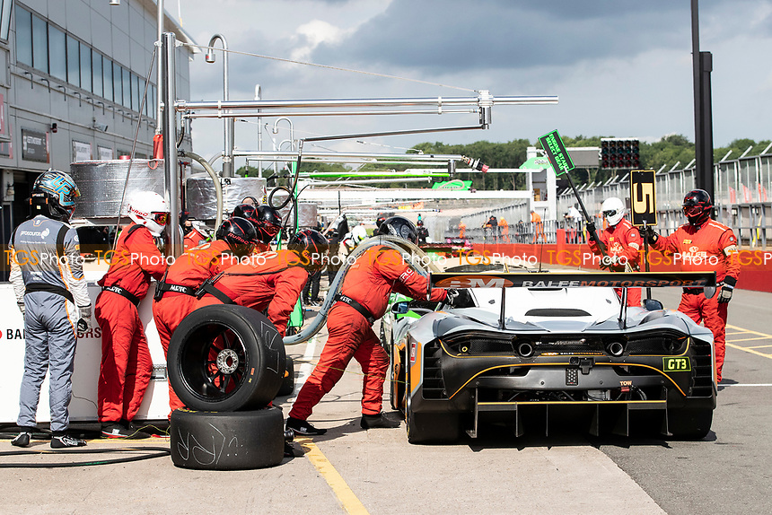Re Fuelling the  McLaren 720S GT3, Balfe Motorsport during the British GT & F3 Championship on 11th July 2021