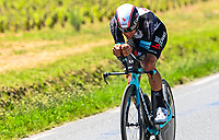 17th July 2021, St Emilian, Bordeaux, France;  MATTHEWS Michael (AUS) of TEAM BIKEEXCHANGE during stage 20 of the 108th edition of the 2021 Tour de France cycling race, an individual time trial stage of 30,8 kms between Libourne and Saint-Emilion.