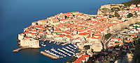 Stock photos of  Arial view of Dubrovnik harbour - Croatia