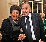 CARLA FENDI E FRANCESCO BELLAVISTA CALTAGIRONE<br /> CHARITY DINNER VILLA LETIZIA 2009 ORGANIZZATO DA EMMA BONINO